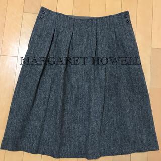 マーガレットハウエル(MARGARET HOWELL)のMARGARET HOWELLツイードスカート(ひざ丈スカート)