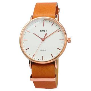タイメックス(TIMEX)の【新品未使用】TIMEXレザーバンド腕時計(TW2P91200)(腕時計(アナログ))