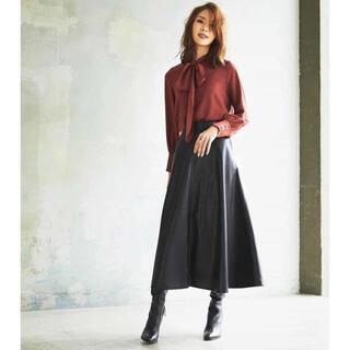 ミッシェルクラン(MICHEL KLEIN)のロングスカート フレアスカート プリーツスカート サイズ38(ロングスカート)