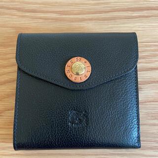 イルビゾンテ(IL BISONTE)の『50周年限定』IL BISONTE イルビゾンテ 二つ折りウォレット ブラック(折り財布)