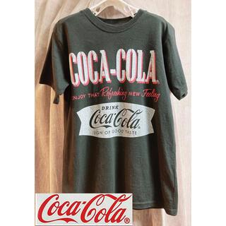 コカコーラ(コカ・コーラ)のコカコーラTシャツ.黒L(Tシャツ/カットソー(半袖/袖なし))