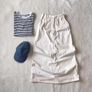 ゴム(gomme)のgomme オフホワイト 7600円→(ロングスカート)