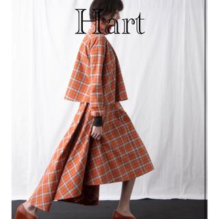 ルカ(LUCA)のHart デザインチェックスカート(ロングスカート)