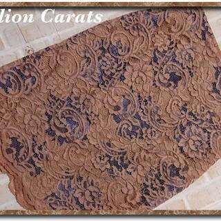 ミリオンカラッツ(Million Carats)のミリオンカラッツ レーススカート 茶(ひざ丈スカート)