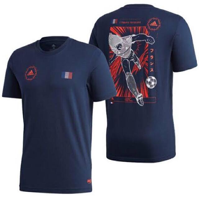 adidas(アディダス)のアディダス キャプテン 翼 パフォーマンス Tシャツ XO フランス ネイビー メンズのトップス(Tシャツ/カットソー(半袖/袖なし))の商品写真