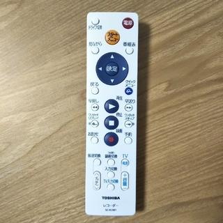 トウシバ(東芝)のTOSHIBA ブルーレイレコーダー 付属 シンプル リモコン SE-R0381(ブルーレイレコーダー)