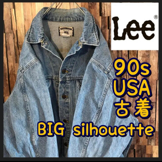 リー(Lee)のUSA古着 90s リー LEE デニムジャケット Gジャン ビックシルエット(Gジャン/デニムジャケット)