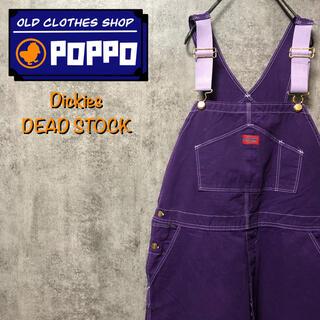 ディッキーズ(Dickies)の【デッドストック】後染めロゴタグ入りパープルオーバーオール 90s(サロペット/オーバーオール)