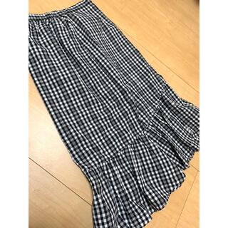チャオパニック(Ciaopanic)のチャオパニック 美品ギンガムチェックマーメイドスカート(ロングスカート)