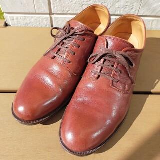 アルフレッドバニスター(alfredoBANNISTER)の美品✨アルフレッドバニスター プレーントゥレザーシューズ 41 ボルドー 日本製(ブーツ)