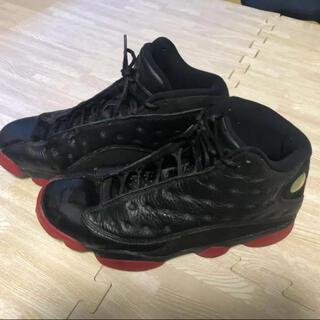 ナイキ(NIKE)のエアジョーダン13 Jordan13 bred赤黒  (スニーカー)