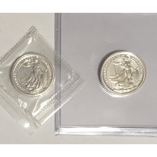 2006 & 2020 英国ブリタニア 1/10オンス銀貨 ややレア(貨幣)