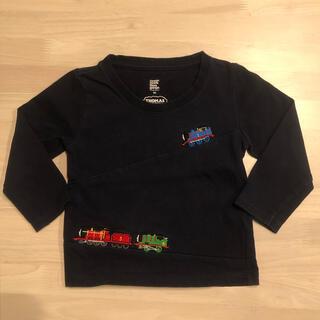 Design Tshirts Store graniph - トーマス刺繍入 ロングTシャツ 90cm