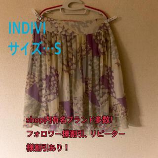 インディヴィ(INDIVI)の美品!INDIVI スカート(ひざ丈スカート)