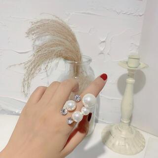 アメリヴィンテージ(Ameri VINTAGE)の【NEW】新品インポート♡ボリューム パール アンティーク 指輪 リング(リング(指輪))