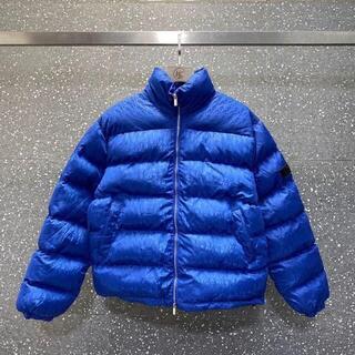 ディオール(Dior)のDior アウター ダウンジャケット オブリーク ロゴ ブルー(ダウンジャケット)