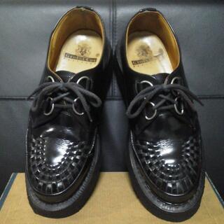 ジョージコックス(GEORGE COX)のGeorgeCox 英国製 ラバーソール UK7 黒 厚底 3588 清春(ブーツ)