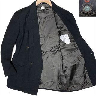エンポリオアルマーニ(Emporio Armani)のJ4060美品 エンポリオアルマーニ ヘリンボーンツイードジャケット濃灰46(テーラードジャケット)