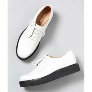 ジーナシス(JEANASIS)のジーナシス プレーントゥマニッシュ 未使用オフ M(ローファー/革靴)