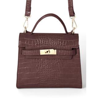 グレイル(GRL)のGRL バッグ クロコダイル 茶色 ブラウン(ショルダーバッグ)