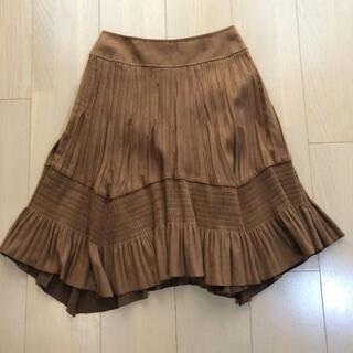 インディヴィ(INDIVI)のインディヴィ INDIVI スエード調 スカート(ひざ丈スカート)