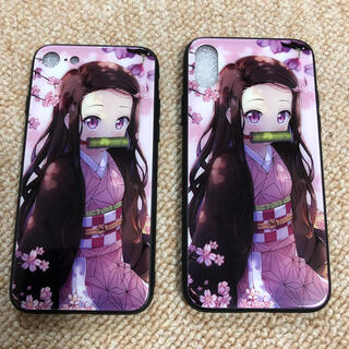【iPhone X 7 8】鬼滅の刃 ねづこ ガラスコーティング(iPhoneケース)