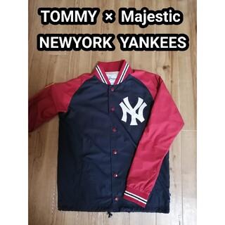 トミーヒルフィガー(TOMMY HILFIGER)のニューヨークヤンキース スタジャン マジェスティック TOMMY トミー コラボ(スタジャン)