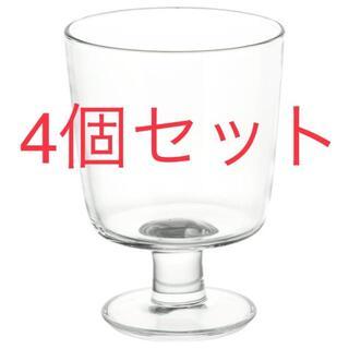 イケア(IKEA)のIKEA イケア 365+ ゴブレット クリアガラス 4個セット グラス ワイン(グラス/カップ)