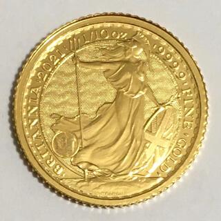 最新 2021年銘 ブリタニア 1/10オンス金貨(貨幣)