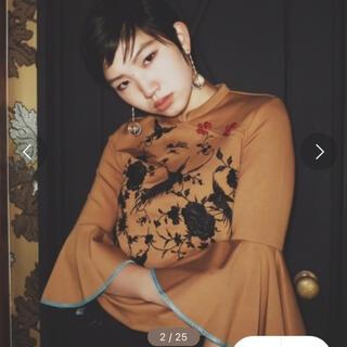 mother - mother Phoenix blouse 二階堂ふみ愛用ブラウン