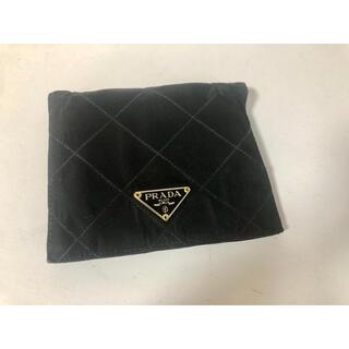 プラダ(PRADA)のD009 PRADA プラダ ブラック 二つ折り財布 イタリア製(折り財布)
