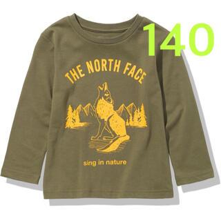 ザノースフェイス(THE NORTH FACE)の【 140 】バーントオリーブ ★ロングTシャツ★ノースフェイス★キッズ(Tシャツ/カットソー)