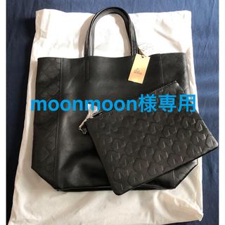 レイジースーザン(LAZY SUSAN)のレイジースーザン購入の型押しレザートートバッグ黒(トートバッグ)