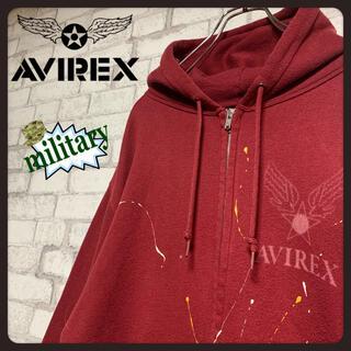 アヴィレックス(AVIREX)の【レア】AVIREX アヴィレックス/パーカー ジップアップ ミリタリー (パーカー)