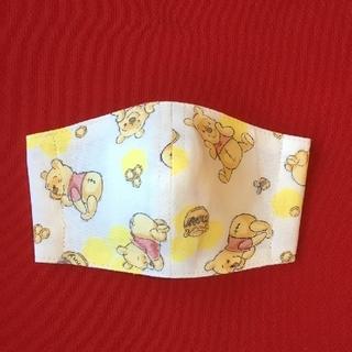 クマノプーサン(くまのプーさん)のくまのプーさん インナーマスク ハンドメイド 子供用小さめ(その他)