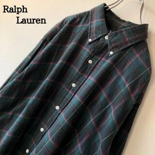 Ralph Lauren - 【グッドカラー】90s 古着 ラルフローレン チェックシャツ ネルシャツ