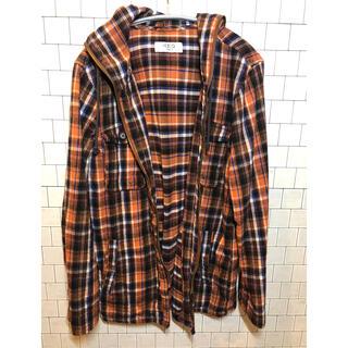 イッカ(ikka)の送料無料 チェックポロシャツ オレンジ サイズL(ポロシャツ)
