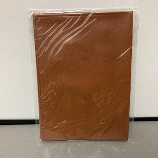 【新品未使用】文庫本ブックカバー 合皮 合成皮革 ブラウン 茶(ブックカバー)