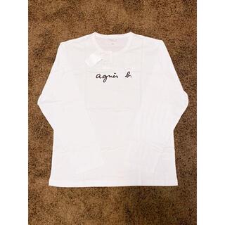 アニエスベー(agnes b.)のメンズ agnes b. アニエスベー 長袖ロゴTシャツ SIZE 4(XL)白(Tシャツ/カットソー(七分/長袖))