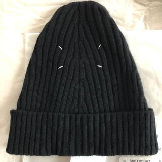 Maison Martin Margiela - 新品タグ付き メゾンマルジェラ ニット帽 ビーニー 黒 ニットキャップ