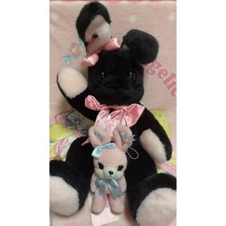 アンジェリックプリティー(Angelic Pretty)のリリカルバニーリュック 黒×ピンク リリカルバニーストラップ セット(リュック/バックパック)