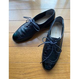 ツモリチサト(TSUMORI CHISATO)のツモリ チサト ウォーク レースアップシューズ 猫耳 美品(ローファー/革靴)