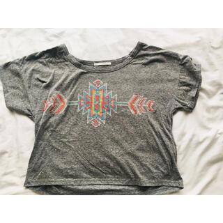 レトロガール(RETRO GIRL)のRETRO GIRL レトロガール  ネイティブ柄 グレーTシャツ(Tシャツ(半袖/袖なし))
