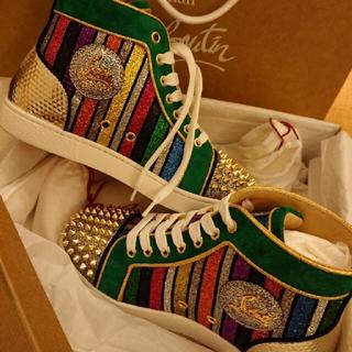 Christian Louboutin - 新品未使用日本未入荷ルブタンハイカットスニーカーブーツVALENTINOスタッズ