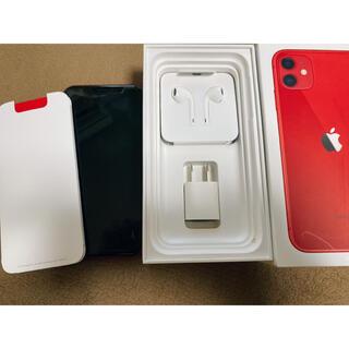 アイフォーン(iPhone)のiPhone 11 product RED 128GB SIMフリー(スマートフォン本体)