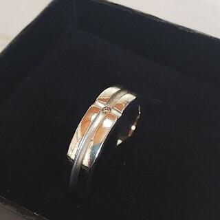 DEUX シルバー925 ワンポイントダイヤリング(リング(指輪))