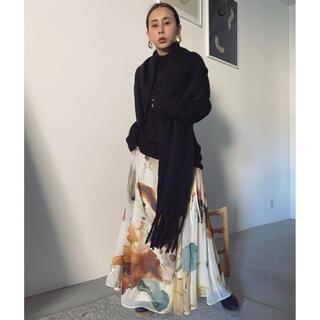 アメリヴィンテージ(Ameri VINTAGE)のAmeri UNDRESSED AMELIA INK ART SKIRT(ロングスカート)