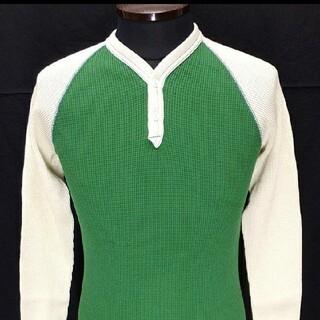 フリーホイーラーズ(FREEWHEELERS)の限定1着フリーホイーラーズ・ サーマル ・ラグランスリーブ ヘンリーネック 新品(Tシャツ/カットソー(七分/長袖))