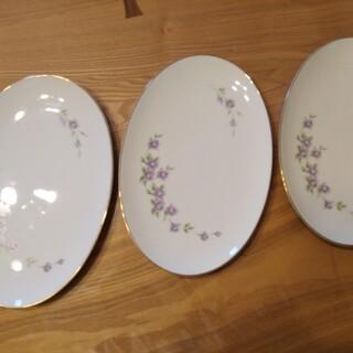 ノリタケ(Noritake)のノリタケ パープルローズ 大皿三枚セット(食器)