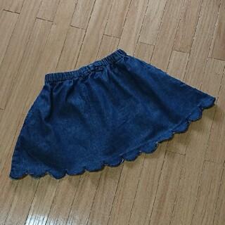 シューラルー(SHOO・LA・RUE)のシューラルー 110 スカラップ インナーパンツ付き スカート デニム(スカート)